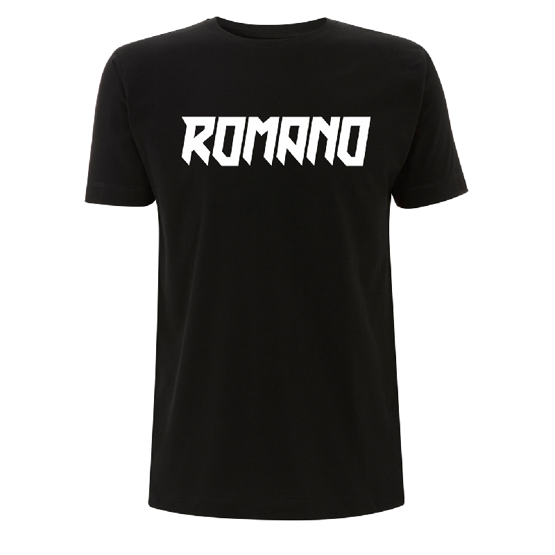 Romano Logo T-Shirt, Black